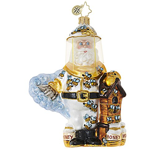 Christopher Radko Bee Calm, Santa! Santa Claus Christmas Ornament