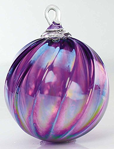 Glass Eye Studio Syrah Twist Classic Ornament (February) #132L