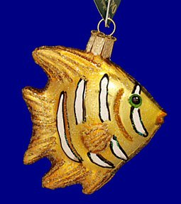 Old World Christmas Regal Angel Fish Christmas Ornament