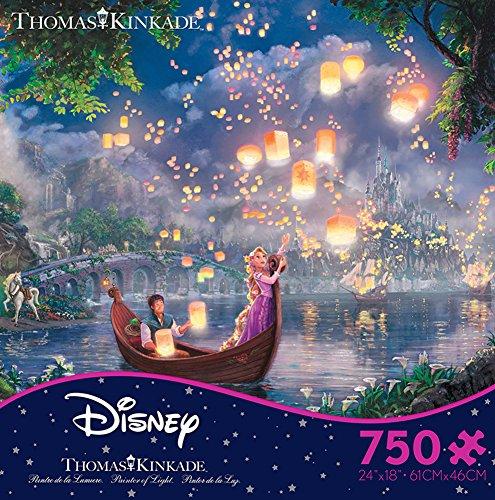 Thomas Kinkade Disney Dreams – Tangled 750 Piece Jigsaw Puzzle 24 x 18in