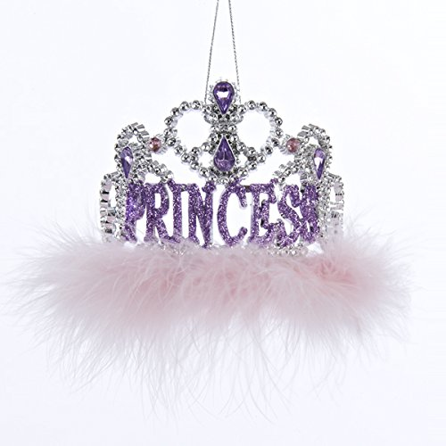 "3.5″ Plastic ""PRINCESS"" Tiara Ornament"