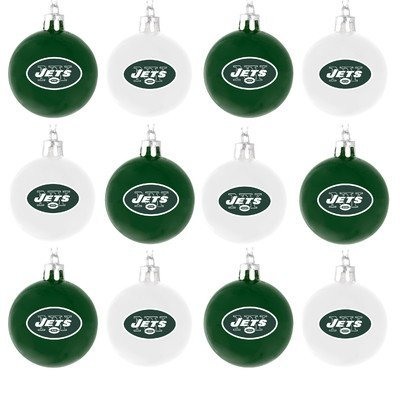 NFL Ball Ornament (Set of 12) NFL Team: New York Jets