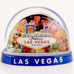 Las Vegas Dice Collage 3 Panel Snowglobe Waterglobe