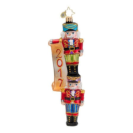 Christopher Radko New Year Nutcracker 2017 Dated Christmas Ornament
