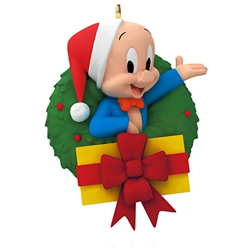 Looney Tunes – Merry Christmas, Folks! Porky Pig Wreath Ornament 2015 Hallmark