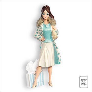 CONTINENTAL HOLIDAY BARBIE 2007 HALLMARK KEEPSAKE ORNAMENT QXI2037