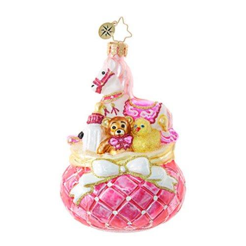 Christopher Radko Pink Princess Baby Christmas Ornament