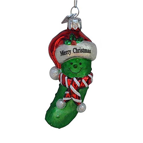 Kurt Adler 3.5-inch Noble Gems Glass Pickle Ornament