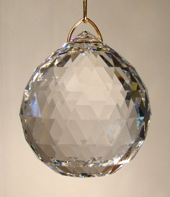 Swarovski 20mm Clear Crystal Faceted Ball Prism