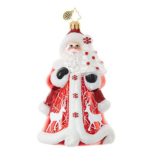 Christopher Radko Crimson Kris Kringle Ornament 5.5″
