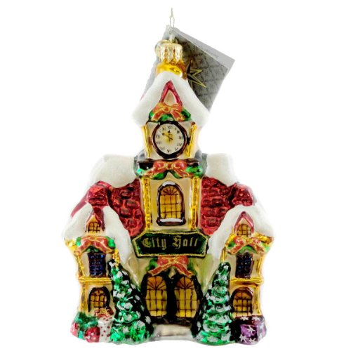 Christopher Radko CITY HALL Blown Glass Ornament Village Ltd Ed