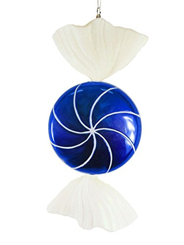 Vickerman 18″ Candy Fantasy Wrapped Blueberry Christmas Decoration Ornament, Large