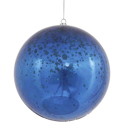 Vickerman 440513 – 6″ Sea Blue Shiny Mercury Ball Christmas Tree Ornament (4 pack) (M166562)