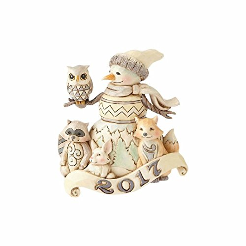 Enesco – WhiteWood 2017 Snowman Ornament