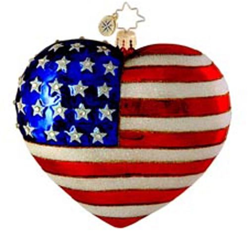 Christopher Radko Amazing Grace Patriotic USA Christmas Ornament – Exclusive