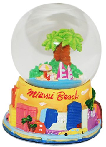 Miami Palm Tree 45 mm Snowglobe with Skyline