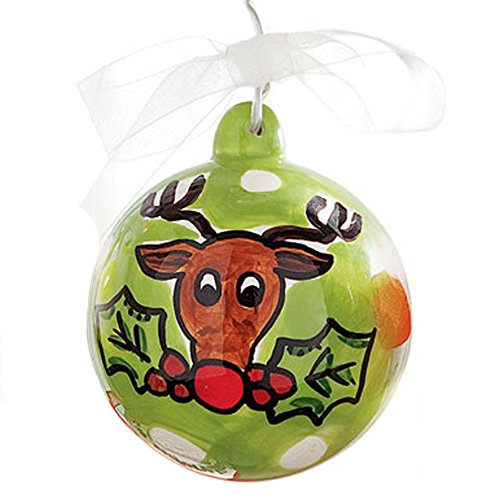 Glory Haus Christmas Reindeer Ball Ornament, 4″, RETIRED