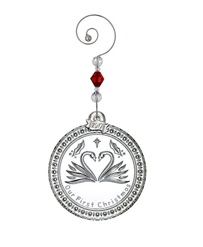 Waterford Crystal 2017 Our First Christmas Ornament