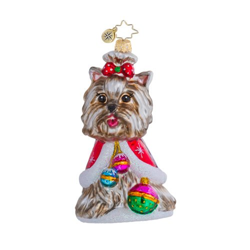 Christopher Radko Have A Yorkie Christmas Dog Christmas Ornament-EXCLUSIVE