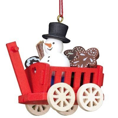 "10-0420 – Christian Ulbricht Ornaments, Assorted Hay Wagons – set of 6 – 2.25″""H x 1.25″""W x 2″""D"