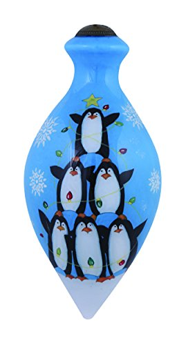 "Ne'Qwa Art, Christmas Gifts, ""Friendship Lights Up The Season"" Artist Susan Winget, Brilliant-Shaped Glass Ornament, #7151164"