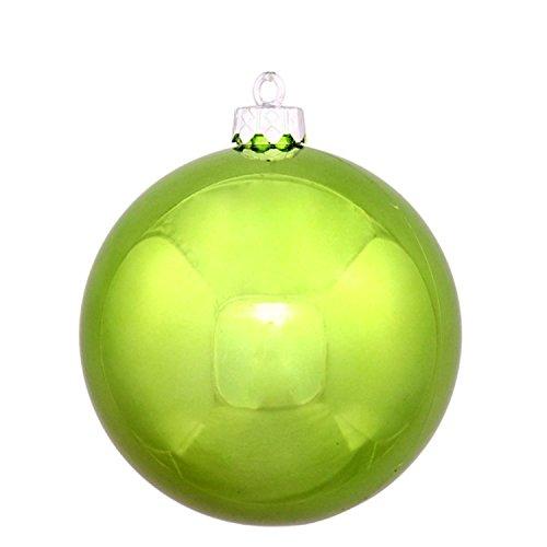 Vickerman Shiny Green Kiwi Commercial Shatterproof Christmas Ball Ornament, 8″