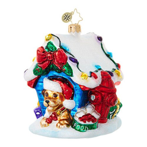 Christopher Radko In the Dog House Animal Christmas Ornament