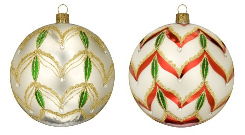 Waterford Christmas Ornaments, Set of 2 Holiday Heirloom Shimmer Balls