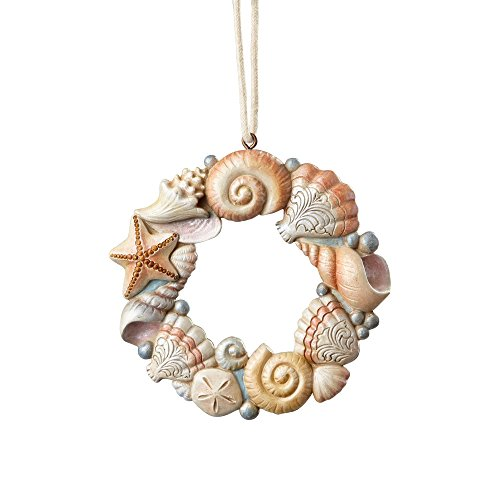 Enesco River's End by Jim Shore Shell Wreath Ornament