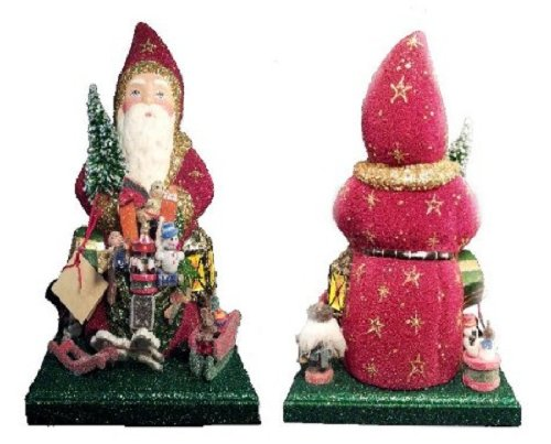 Ino Schaller Paper Mache Christmas Eve Santa with Toys Candy Container