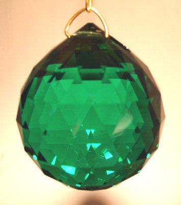 Swarovski 20mm Emerald Crystal Faceted Ball Prism