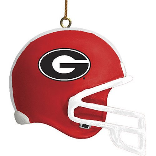 NCAA University of Georgia 3 Pack Helmet Ornament, One Size, Multicolor