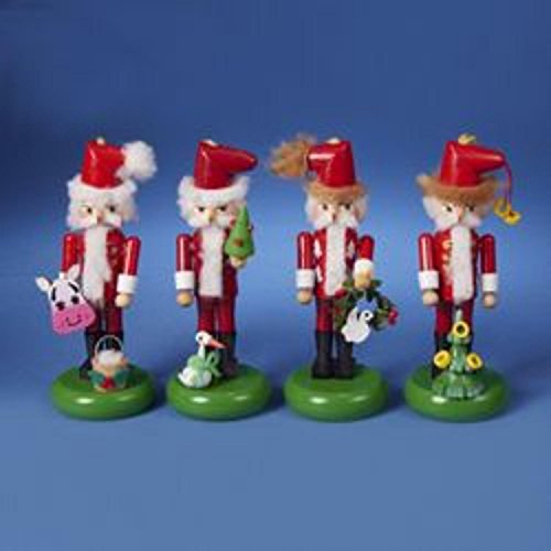 Set of 4 Authentic Steinbach Twelve Days of Christmas Collectible Nutcracker Ornaments #ES5009