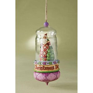 Jim Shore Santa Glass Dome Hanging Ornament