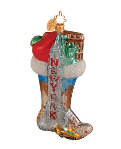 Christopher Radko NYC New York City Sock Christmas Ornament