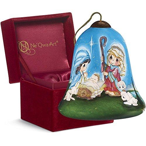 "Ne'Qwa Art, Christmas Gifts, ""Oh Holy Night"" Petite Bell-Shaped Glass Ornament, #7161199"