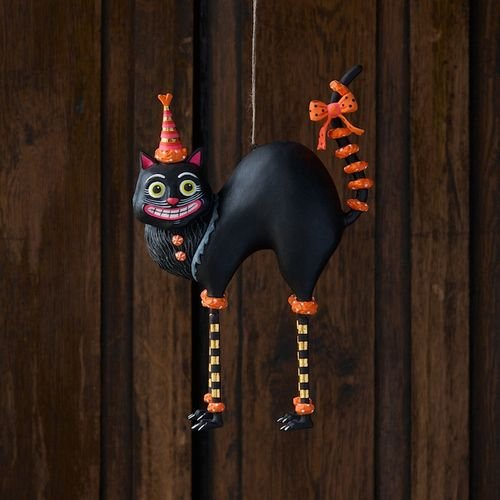 Itchy's Cat Twitchy – Hanging Halloween Resin Figure