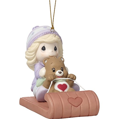 Precious Moments Follow Your Heart Care Bears Bisque Porcelain Ornament, 3.25-inches, 171054