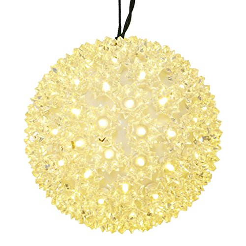 Vickerman Starlight Sphere Christmas Ornament with Wide Angle LED Lights