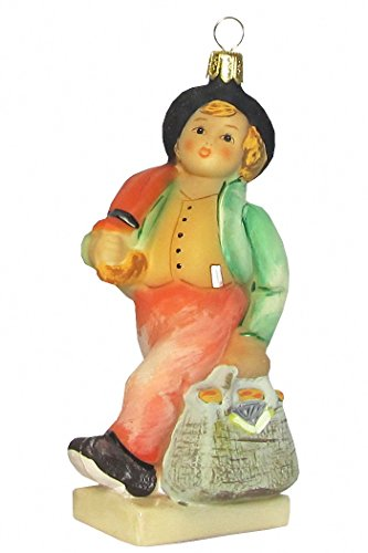 Hummel figurine Christmas ornament Merry Wanderer, original MI Hummel Collection, gift-boxed