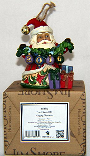 Jim Shore Enesco 4054532 Dated Santa 2016 Hanging Ornament