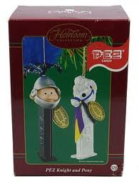 PEZ Candy KNIGHT and PONY Heirloom Collection CHRISTMAS TREE Ornament