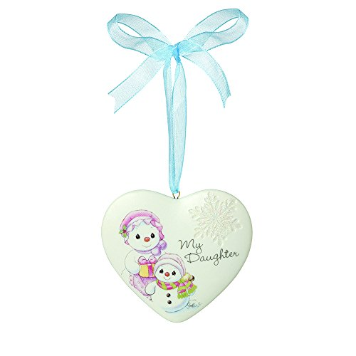 "Precious Moments, Christmas Gifts, ""My Daughter"", Porcelain Ornament, #161056"