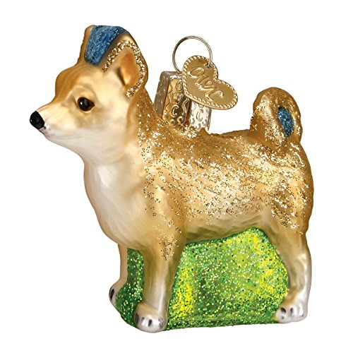 Old World Christmas Chihuahua Glass Blown Ornament
