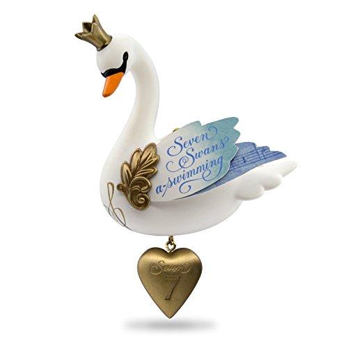 Hallmark Keepsake 2017 Seven Swans-a-Swimming Twelve Days of Christmas Christmas Ornament