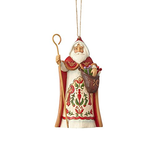 Enesco Jim Shore Heartwood Creek Austrian Santa Ornament