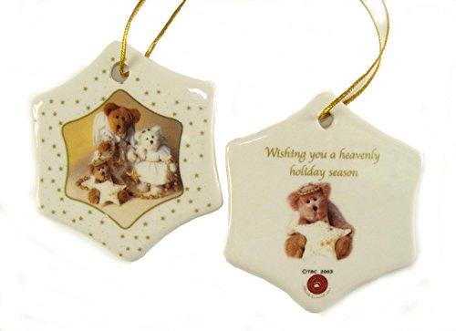 Club Pack of 192 Porcelain Boyds Holiday Bears Christmas Ornaments 3″