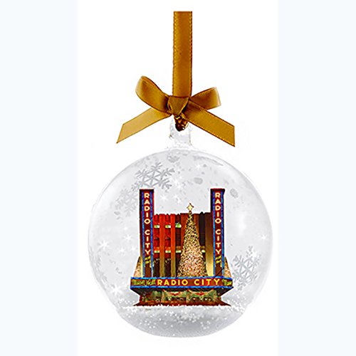 Kurt Adler Radio City Music Hall Glass Snow Globe Christmas Ornament