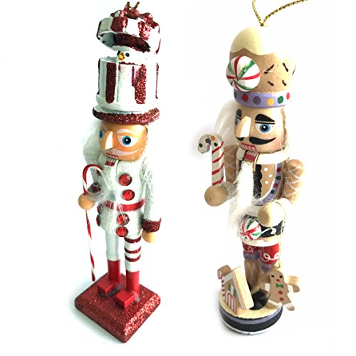 CDL 5-Inch Wooden Nutcracker Ornament sets in various designs and quantity (S7-8)