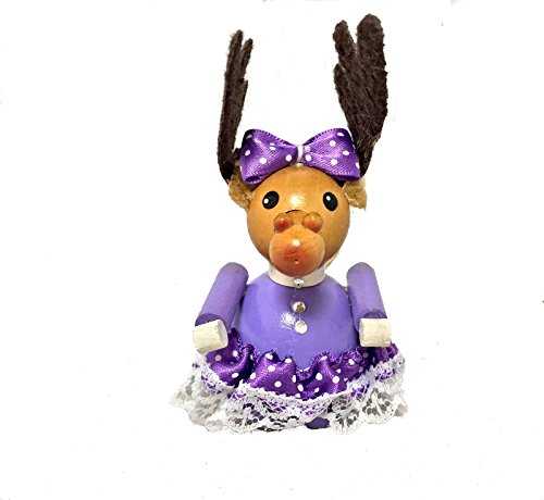 Steinbach Rudolph the Reindeer Daughter German Wooden Christmas Ornament